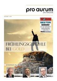 pro aurum Magazin - Ausgabe 1/ 2016