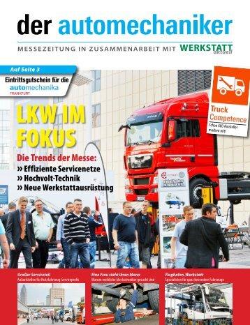 der automechaniker 2014 - Messezeitung in Zusammenarbeit mit Werkstatt aktuell