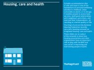 Housing care and health