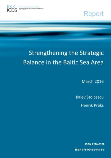 Report Strengthening the Strategic Balance in the Baltic Sea Area