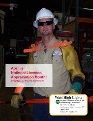 April is National Lineman Appreciation Month! Watt High Lights