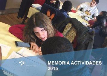 MEMORIA ACTIVIDADES 2015
