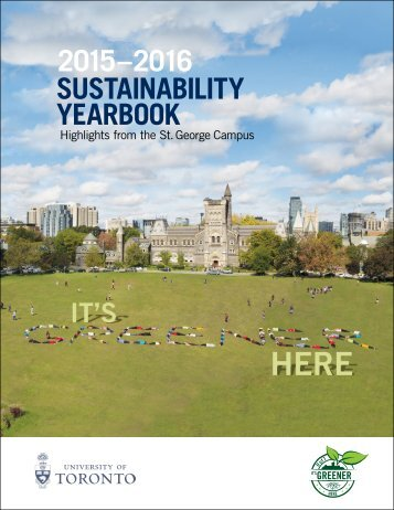 2015–2016 SUSTAINABILITY YEARBOOK