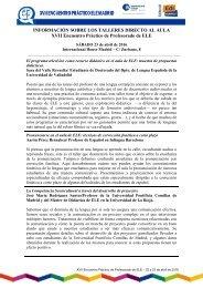 XVII Encuentro Práctico de Profesorado de ELE