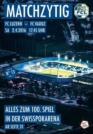 FC LUZERN Matchzytig N°13 15/16 (RSL 26)