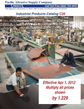 download pasco catalog c26 - Pacific Abrasive