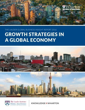GROWTH STRATEGIES IN A GLOBAL ECONOMY