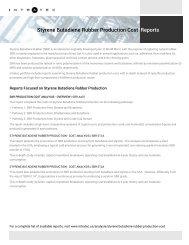 Styrene Butadiene Rubber Plant Cost