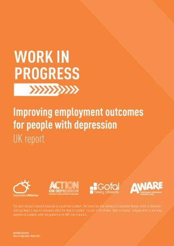 Improving employment outcomes for people with depression UK report