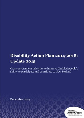 Disability Action Plan 2014-2018 Update 2015