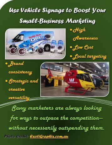 Use Vehicle Signage to Boost Your Small-Business Marketing