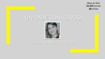 Jornal Sonho Rosa. Edição: Abril, 2016