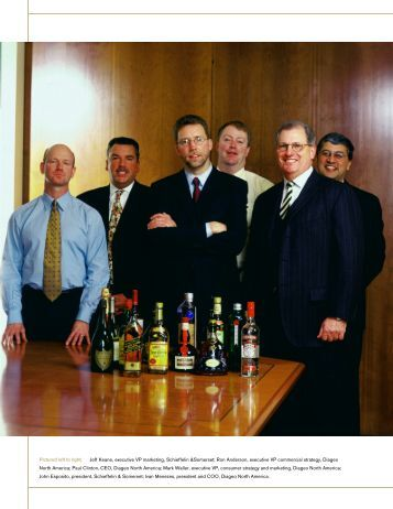Pictured left to right: Jeff Keane, executive VP marketing, Schieffelin ...