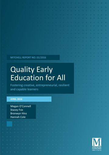 Quality Early Education for All