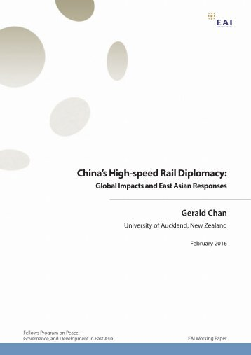 China's High-speed Rail Diplomacy