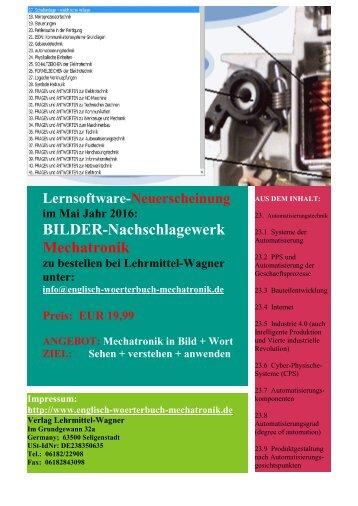 Angebot: Mechatronik in Bild + Wort  (ZIEL: Sehen + verstehen + anwenden)