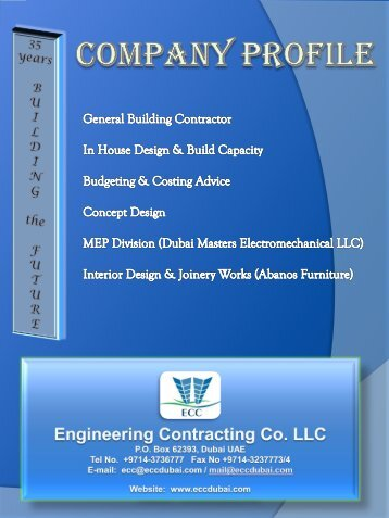 About The Company - Engineering Contracting Company
