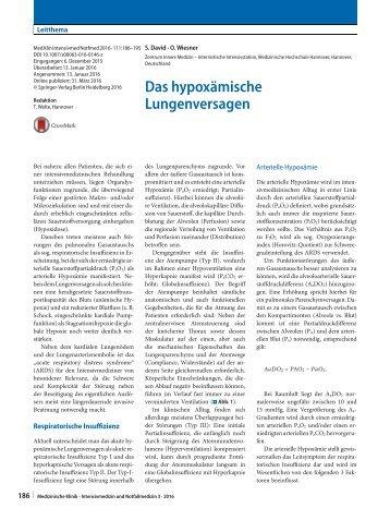 Hypoxämisches Lungenversagen David