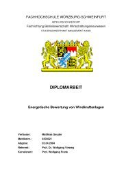 DIPLOMARBEIT Energetische Bewertung von Windkraftanlagen