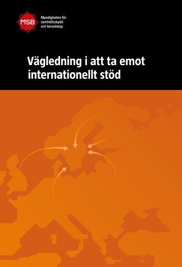 Vägledning i att ta emot internationellt stöd