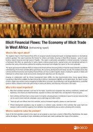 Illicit Financial Flows The Economy of Illicit Trade in West Africa