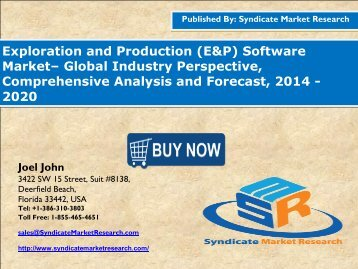 Exploration and Production Software Market