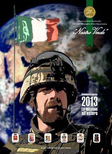 """Nastro Verde: calendario 2013, """"Le missioni all'estero"""""""