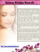 7 Ways in 7 Days to Naturally Reverse Wrinkles - Page 4