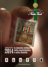 """Nastro Verde: calendario 2014, """"La tematica militare nella numismatica e nella filatelia"""""""