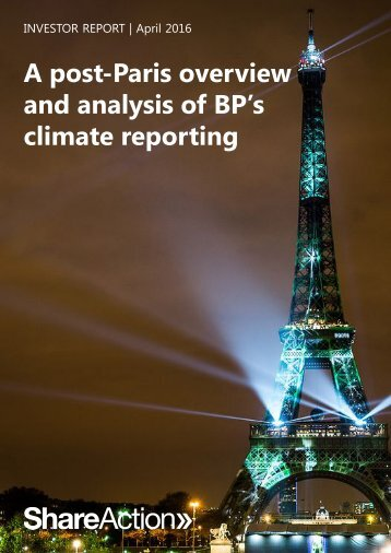 A post-Paris overview and analysis of BP's climate reporting