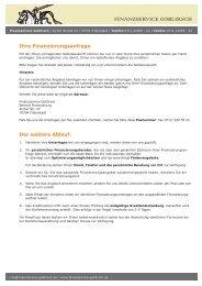 Formular Umschulden - Finanzservice Goblirsch