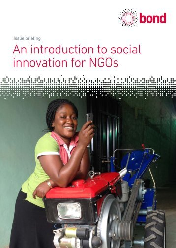 An introduction to social innovation for NGOs