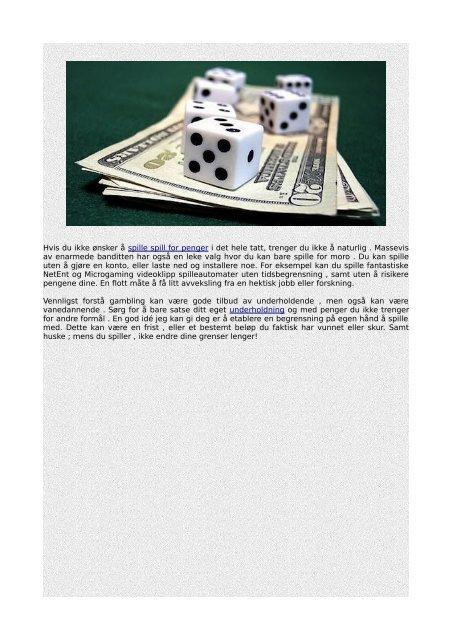 De beste måtene å utnytte en Casino gratis spinn bonus