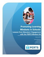 Promoting Learning Mindsets in Schools