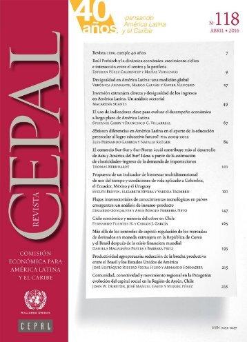 Revista CEPAL no. 118