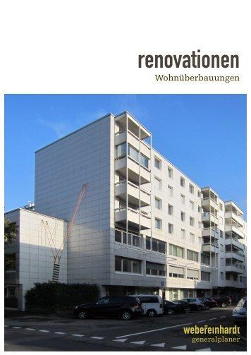 webereinhardt - renovationen Wohnüberbauung