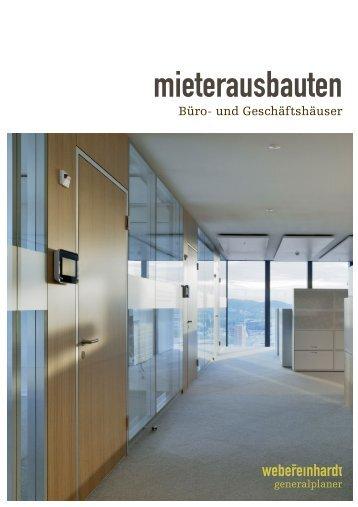 webereinhardt - mieterausbauten Büro- und Geschäftshäuser