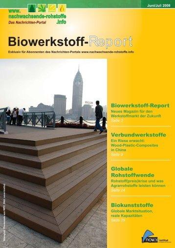Biowerkstoff-Report, Ausgabe 1 - nova-Institut GmbH