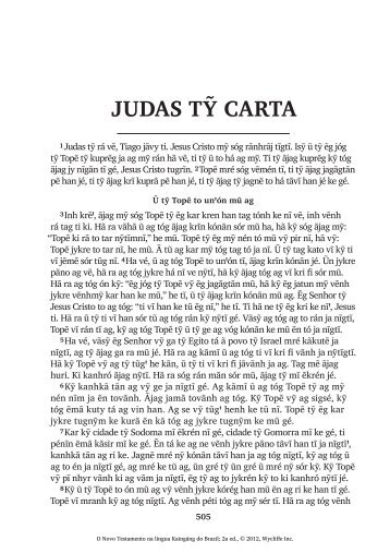 judas tỹ carta - Splash page of Scripture Earth