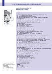 2003-2004 - Medizinischen Klinik und Poliklinik II
