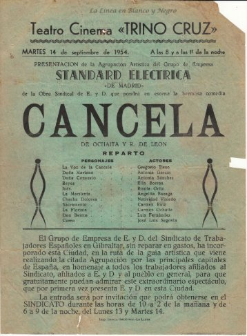 1954-09-14 Standar Electrica - Cancela