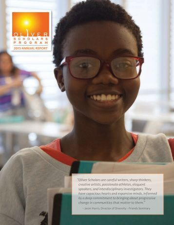 Oliver Scholars 2015 Annual Report-final