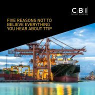 FIVE REASONS NOT TO BELIEVE EVERYTHING YOU HEAR ABOUT TTIP