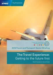 The Travel Experience Getting to the future first