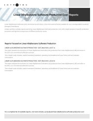 Feasibility Study of Linear Alkylbenzene Sulfonate Production
