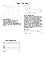 School Loan Catalog - Peoria Riverfront Museum