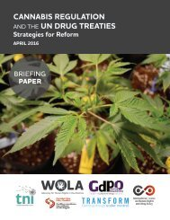 CANNABIS REGULATION UN DRUG TREATIES