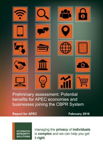 benefits for APEC economies and businesses joining the CBPR System