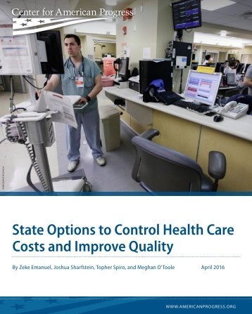 State Options to Control Health Care Costs and Improve Quality