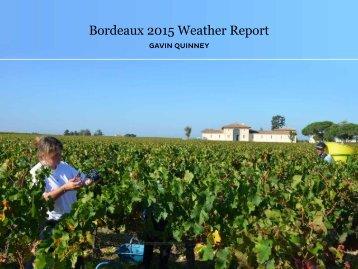 Bordeaux 2015 Weather Report